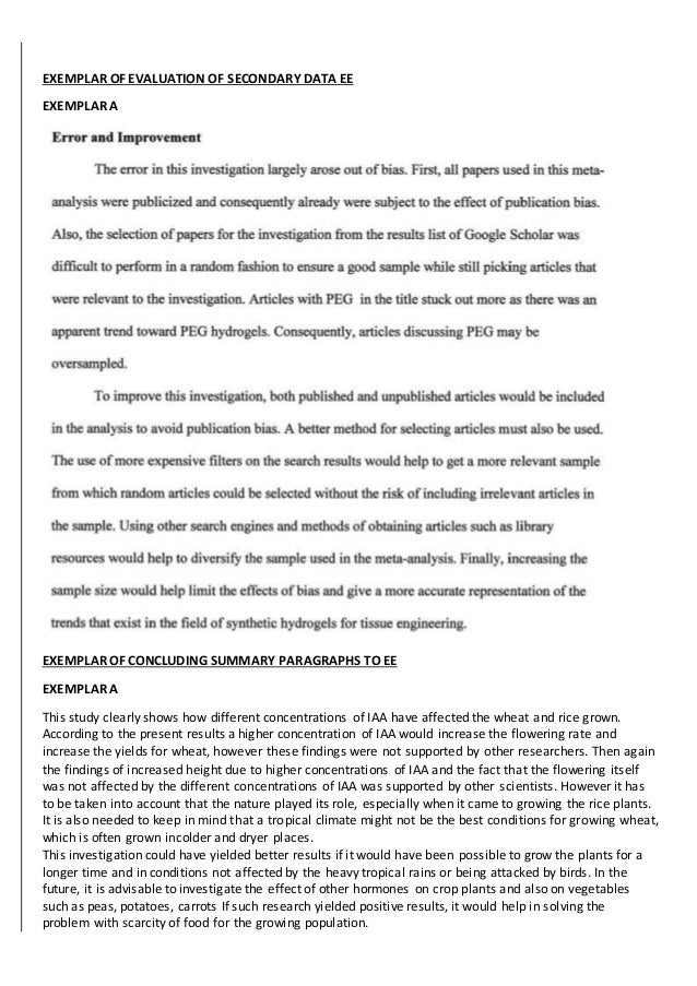 science extended essay Sample extended essay questions 1 extended essay sample questions 2 group 1studies in language and literature  group 5mathematics and computer science 30.