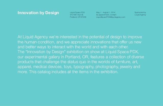 Innovation by Design exhibition catalog Slide 2