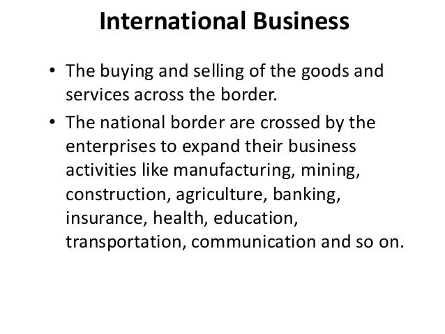 what is meant by international business Master in international business: learn the necessary skills to meet the  challenges of globalization in today's market, study mib in obs business school.