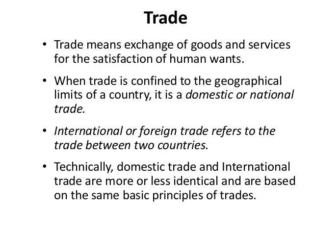 Trade, Domestic