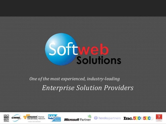 One of the most experienced, industry-leading Enterprise Solution Providers