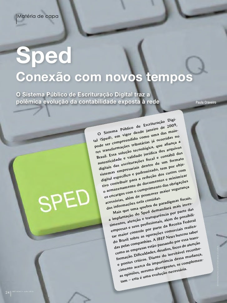 IBEF News - julho 2010 - matéria de capa sobre SPED