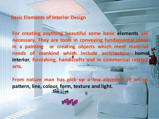 basic elements of interior design - Basic Elements Of Interior Design