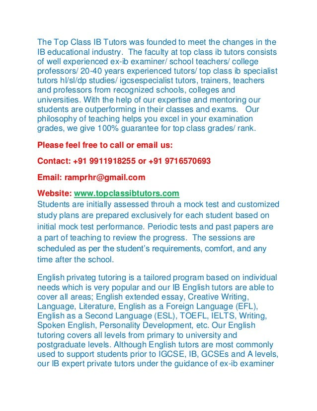 Ib extended essay english literature