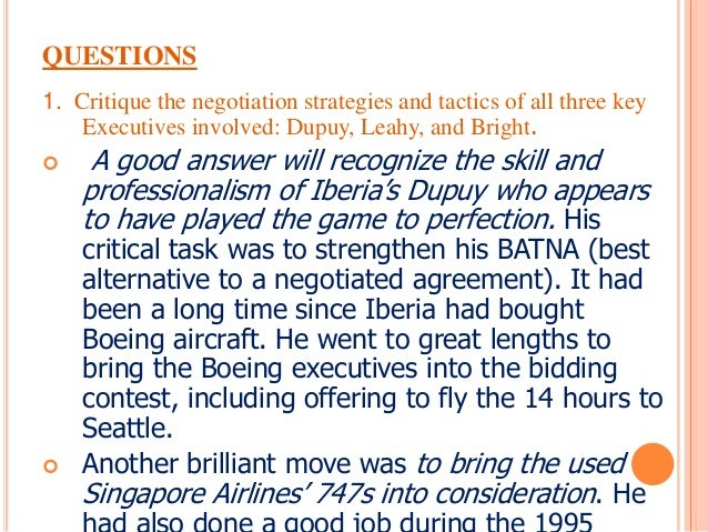 iberia airline builds a batna Case 4-2iberia airlines builds a batna to north america  offices of iberia  airlines  dogfight between the two aviation titans—and iberia was planning.