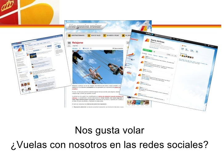 Nos gusta volar ¿Vuelas con nosotros en las redes sociales?
