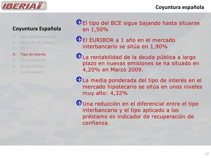 Coyuntura española                             El tipo del BCE sigue bajando hasta situarse                            en ...