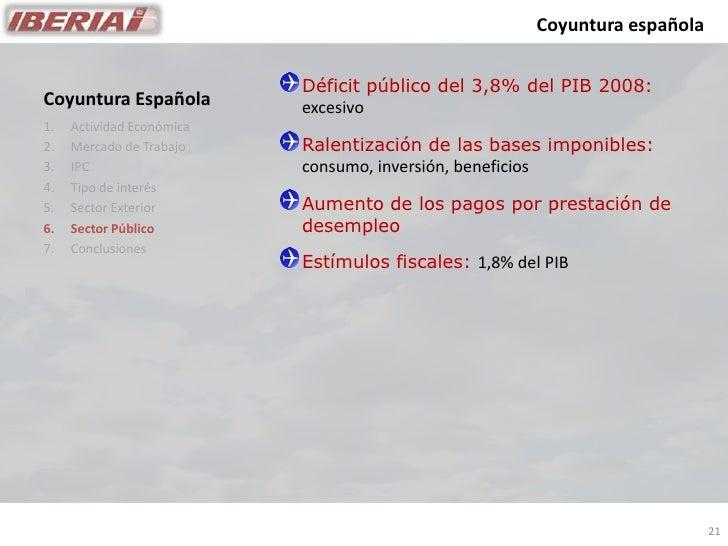 Coyuntura española                              Déficit público del 3,8% del PIB 2008: Coyuntura Española         excesivo...