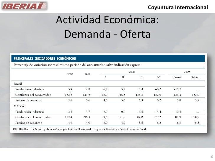 Coyuntura Internacional  Actividad Económica:  Demanda - Oferta                                                6