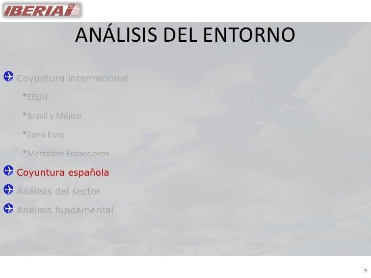 ANÁLISIS DEL ENTORNO Coyuntura internacional  •EEUU  •Brasil y Méjico  •Zona Euro  •Mercados Financieros Coyuntura español...