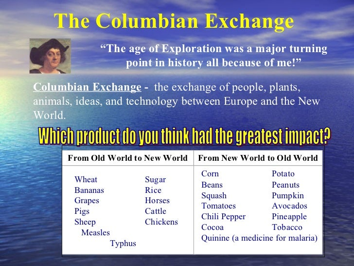 similarities and differences of demographic effects of the columbian exchange in europe and america The compare and contrast essay:  analyze similarities and differences in how  compare demographic and environmental effects of the columbian exchange on.