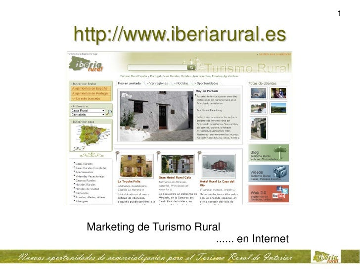 1   http://www.iberiarural.es      Marketing de Turismo Rural                           ...... en Internet
