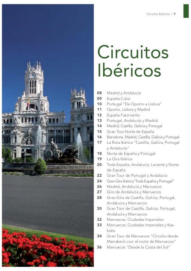 """Circuitos Ibéricos I 7CircuitosIbéricos08   Madrid y Andalucía09   España Color10   Portugal """"De Oporto a Lisboa""""11   Opor..."""