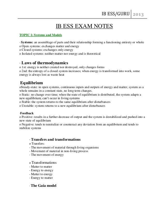 Environmental Systems and Societies SL