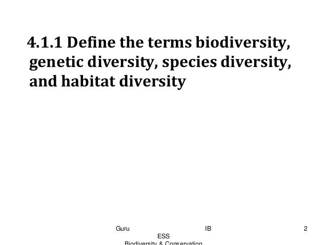 ess topic 4 3 conservation of Environmental systems & societies search this site home  ess topics  topic 3: biodiversity   34 conservation of biodiversity.