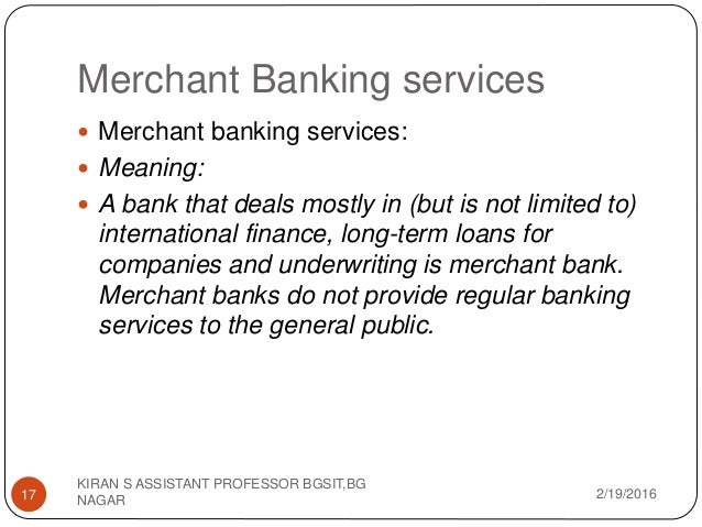 Investment Banking and financial services Module 1