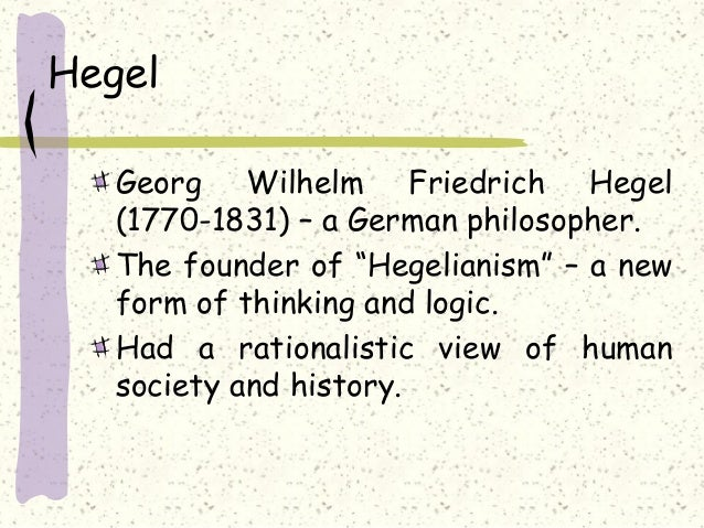Essay on Hegel's Theory of State