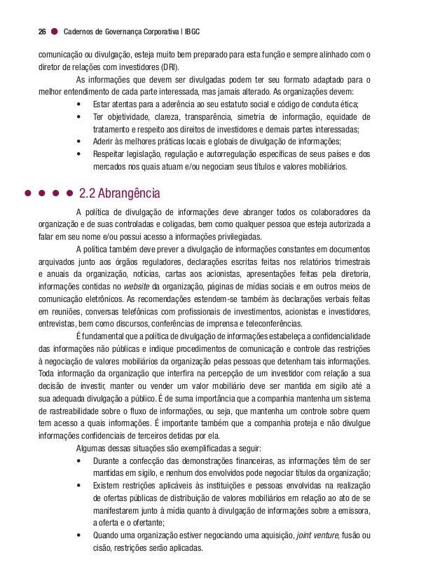 """Governança Corporativa e Boas Práticas de Comunicação 29 fins do """"necessário decurso dos negócios"""", sendo que codinomes de..."""