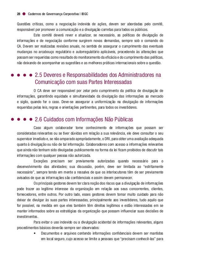 Governança Corporativa e Boas Práticas de Comunicação 31 chamados períodos de silêncio mais discutidos no mercado de capit...