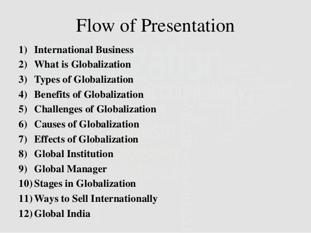"02 what is globalization 1 It is often assumed that there are two main groups who benefit from globalization  – the ""top 1 percent"" and the ""emerging middle class"" in."