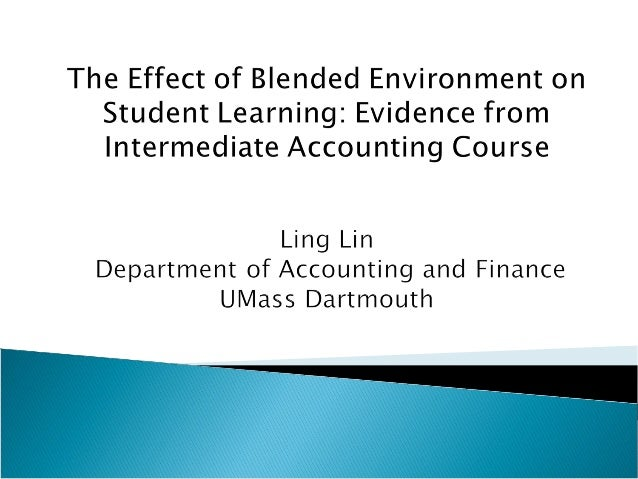  I conducted a comparative look at student learning outcomes between two sections of Intermediate Accounting course (ACT3...