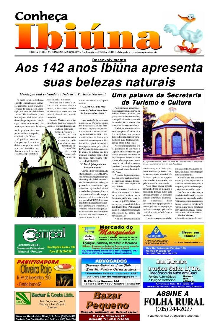 FOLHA RURAL 2o QUINZENA-MARÇO-1999 - Suplemento da FOLHA RURAL - Não pode ser vendido separadamente                       ...
