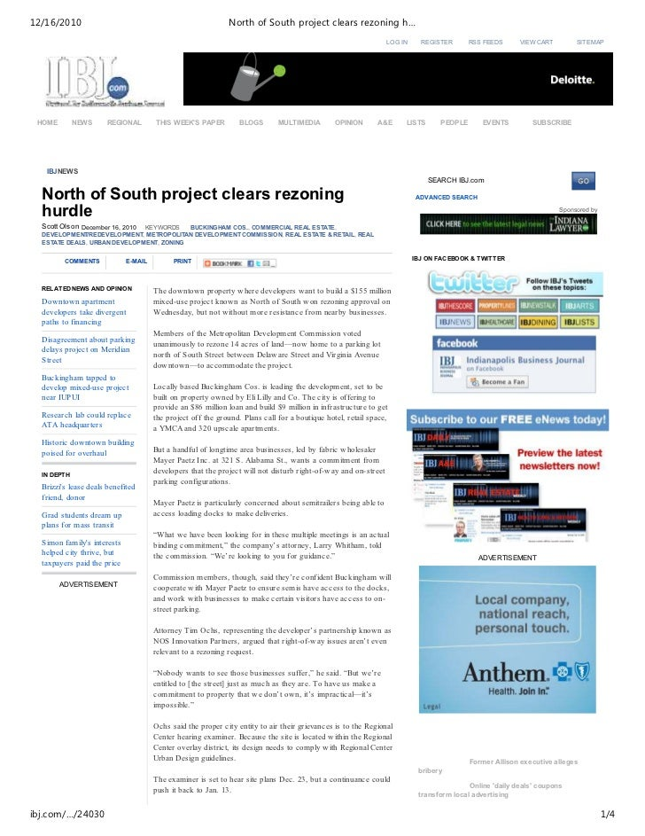 12/16/2010                                                    North of South project clears rezoning h…                   ...
