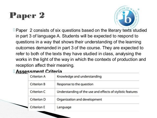 Ib english paper 1 thesis