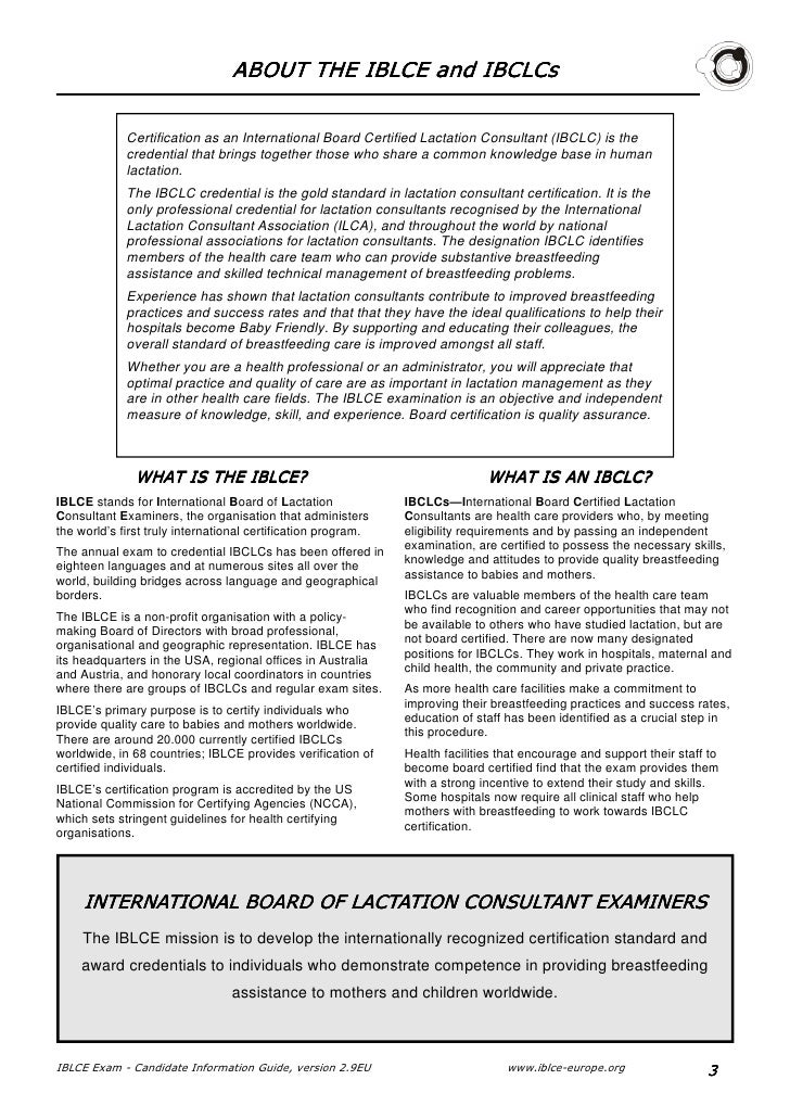 Iblce Regional Office In Europe Candidate Information Guide