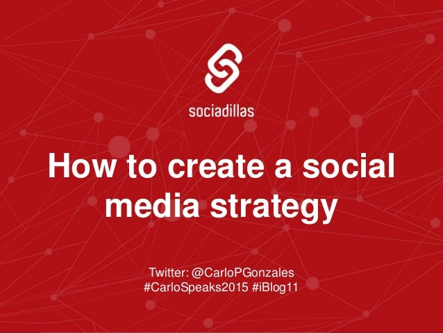 how to create a social media strategy template