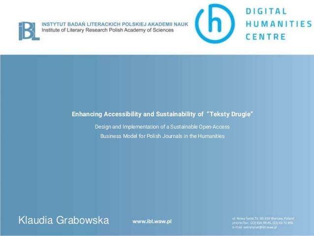 """Enhancing Accessibility and Sustainability of """"Teksty Drugie"""" Design and Implementation of a Sustainable Open-Access Busin..."""