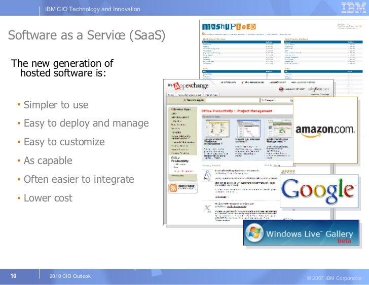 Software as a Service (SaaS) <ul><li>The new generation of hosted software is: </li></ul><ul><ul><li>Simpler to use </li><...