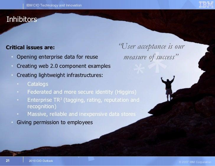 Inhibitors <ul><li>Critical issues are: </li></ul><ul><ul><li>Opening enterprise data for reuse </li></ul></ul><ul><ul><li...