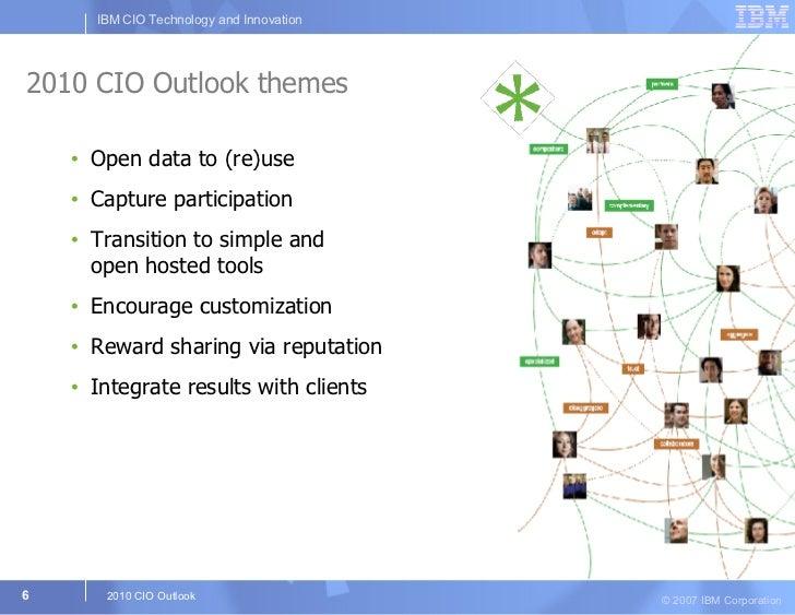 2010 CIO Outlook themes <ul><li>Open data to (re)use </li></ul><ul><li>Capture participation </li></ul><ul><li>Transition ...