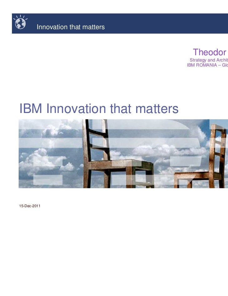 Innovation that matters                                     Theodor STANESCU                                     Strategy ...