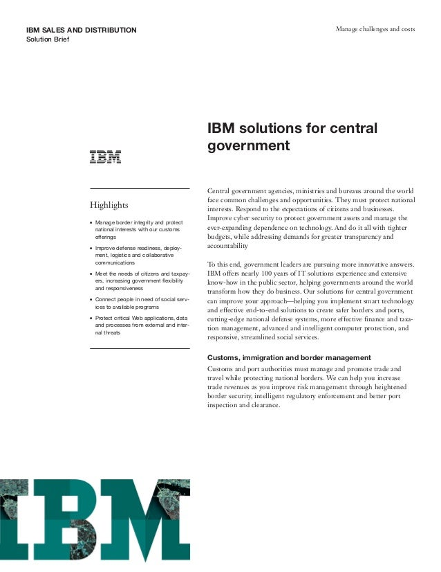IBM Solution for Central Government