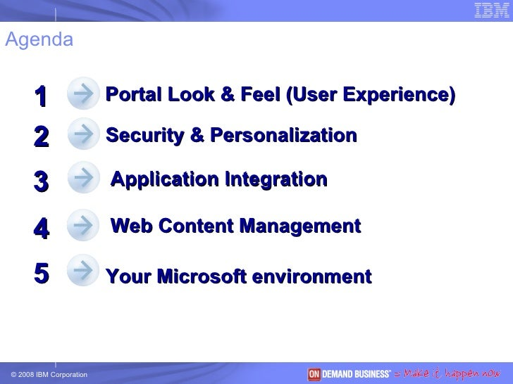 Agenda Security & Personalization 2 3 4 Portal Look & Feel (User Experience) 1 Your Microsoft environment 5 Application In...