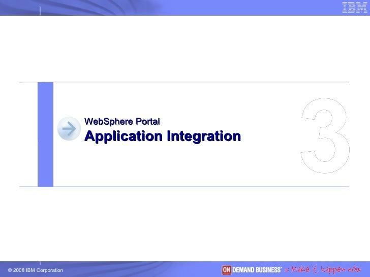 3 WebSphere Portal Application Integration