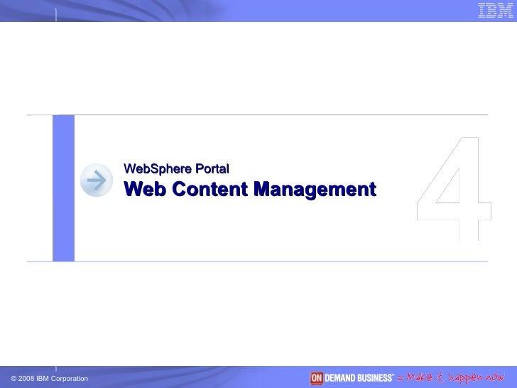 4 WebSphere Portal Web Content Management