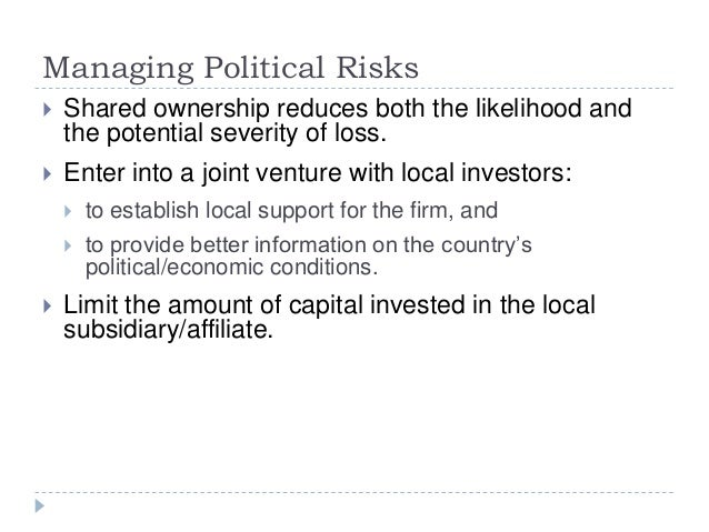 managing political risk in international business