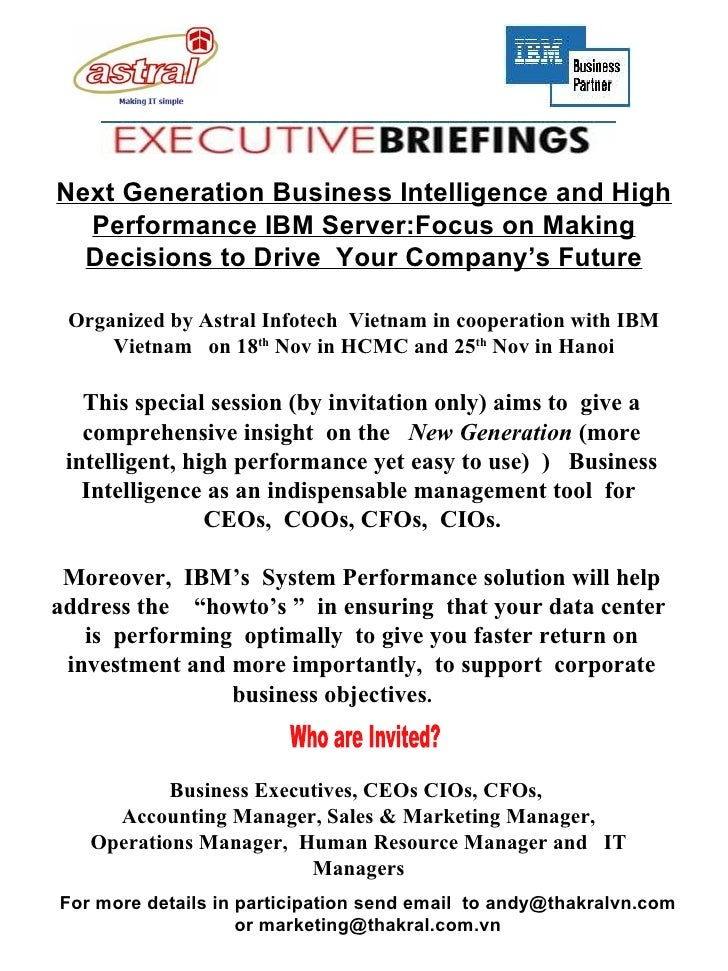 This special session (by invitation only) aims to  give a comprehensive insight  on the  New Generation  (more intelligent...