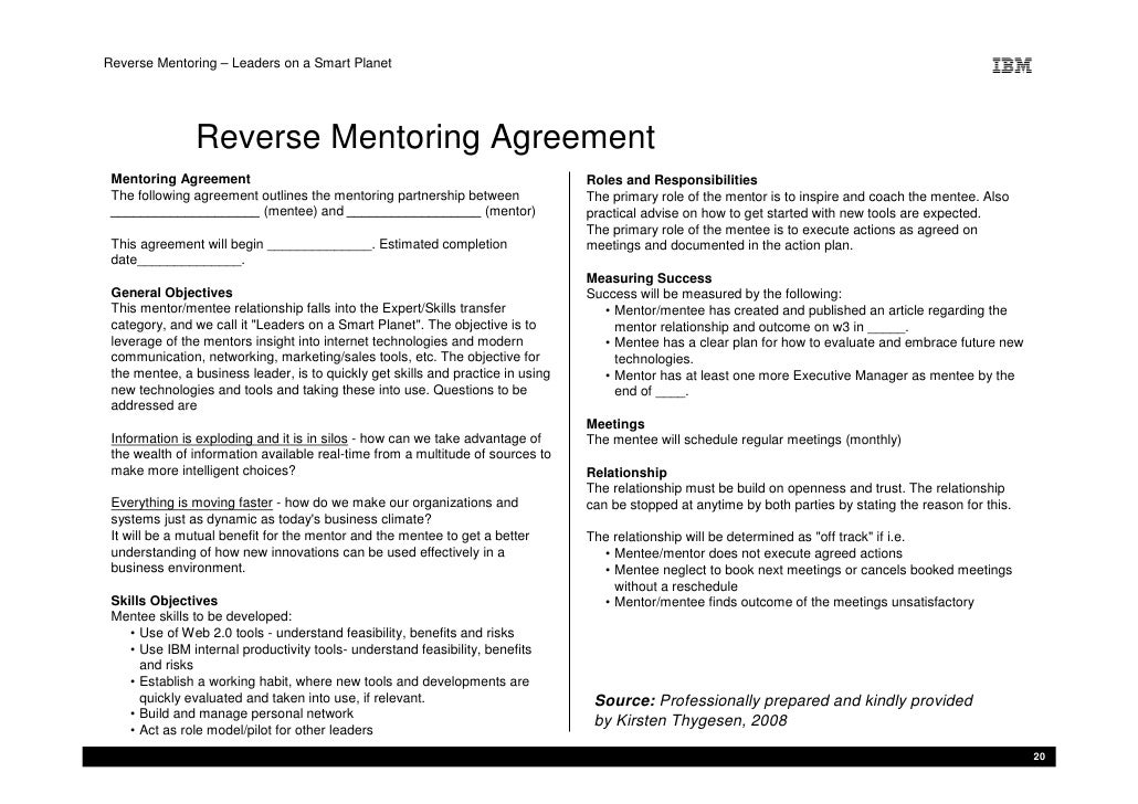 Mentoring Agreement Template. real opportunities. lmiec mentoring ...