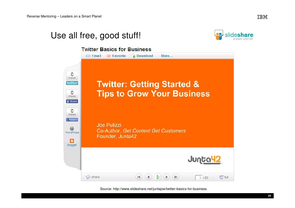 Reverse Mentoring – Leaders on a Smart Planet                   Use all free, good stuff!                                 ...