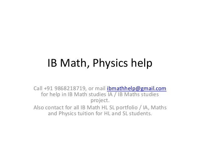 ib math ia type 1 The ib diploma programme (dp) is a rigorous, academically challenging and balanced programme of education designed to prepare students aged 16 to 19 for success at.