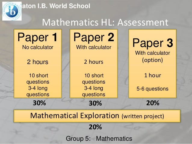ib biology sl assessment statements essay Assessment outline—sl  the extended essay, including the world studies  extended essay, offers the  the ib mission statement and the ib learner profile.