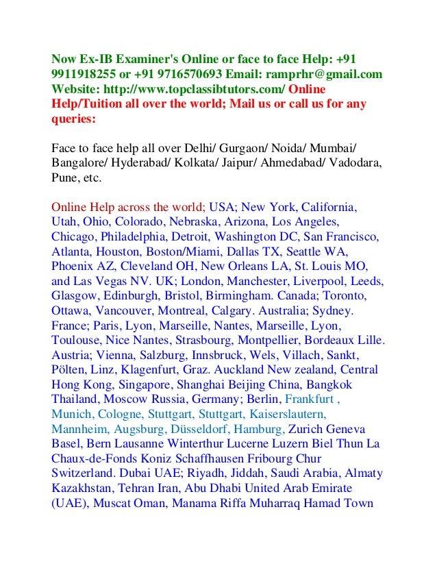 literature written assignment ib An external assessment written task for international baccalaureate english a language and literature hl candidate name: written assignment format.