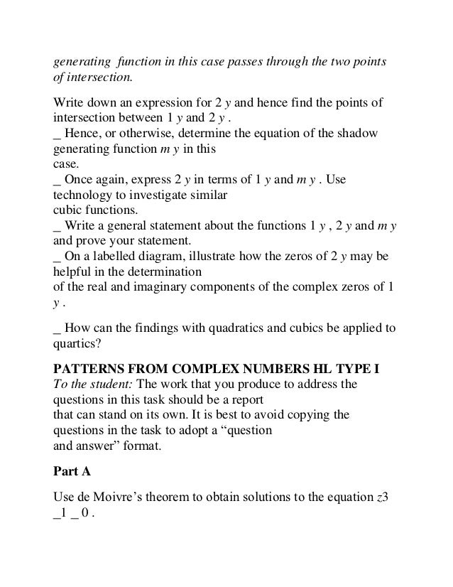 ib math hl portfolio shadow functions Ib mathematics hl & sl inthinking subject sites - where ib teachers go website by tim garry student guides for the exploration (internal assessment) (two portfolio tasks.
