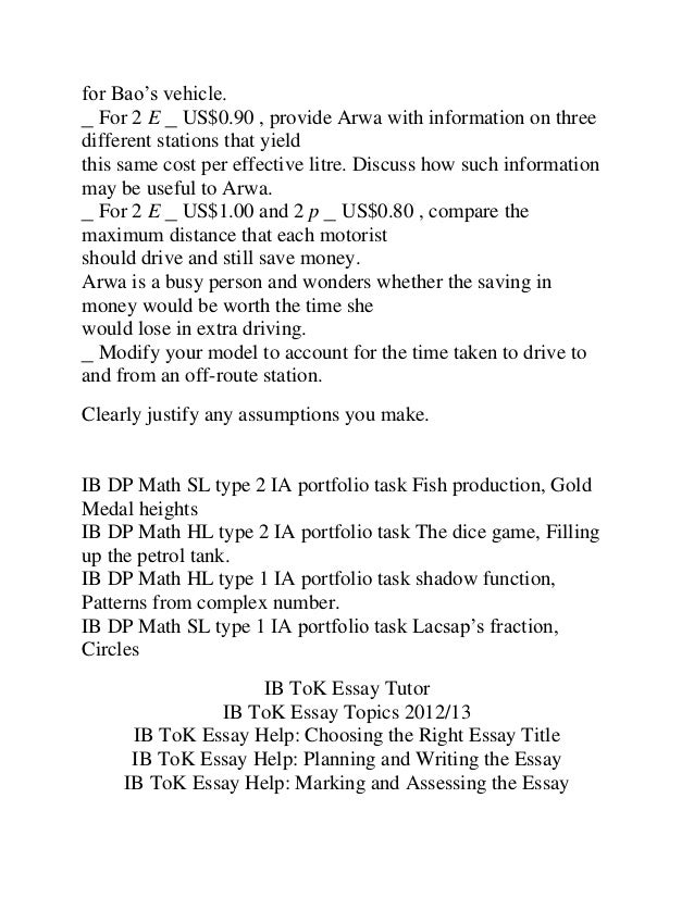 ib math hl portfolio ia the dice game filling up the petrol tank shad  repeat 16 for