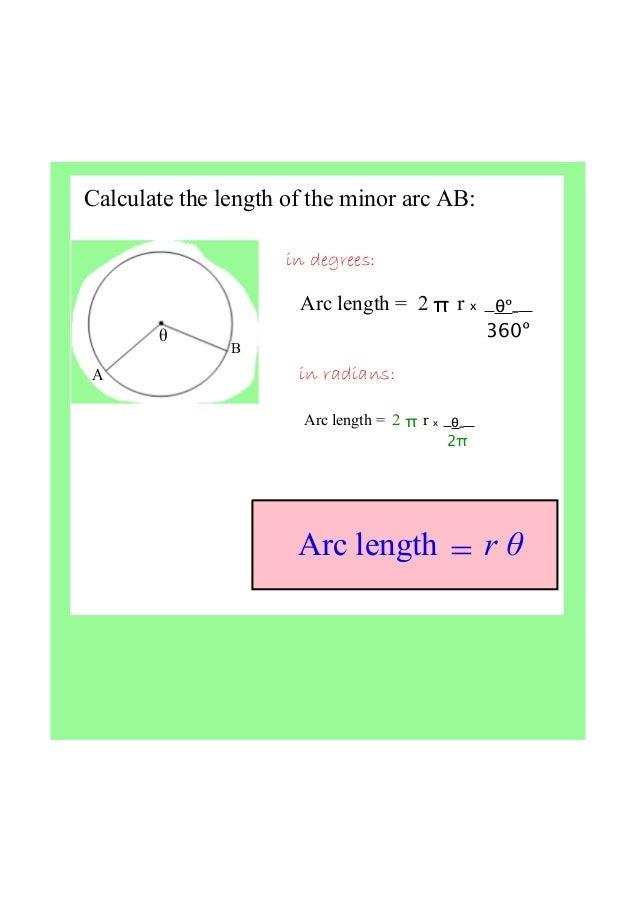 ib maths radians  arc length  u0026 sector area
