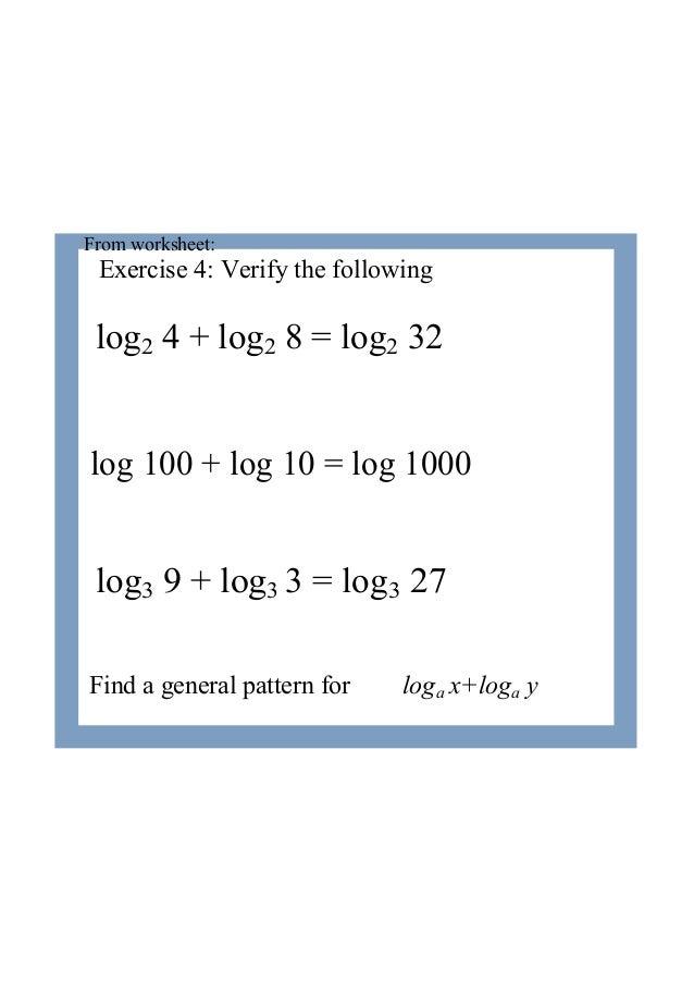 Ib Maths Sl Logarithms Laws